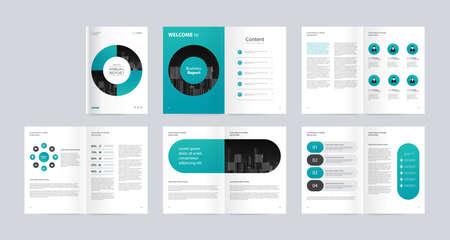 Template-Layout-Design mit Deckblatt für Firmenprofil, Jahresbericht, Broschüren, Flyer, Präsentationen, Broschüre, Magazin, Buch. und Vektor-A4-Größe zum Bearbeiten.