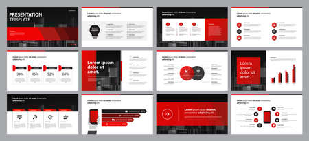 business presentation backgrounds design template and page layout design for brochure