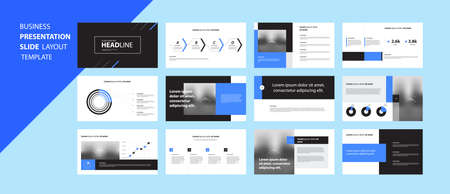 business presentation design template and page layout design for brochure