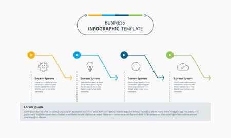 Set Colorful business infographic element design template Ilustração