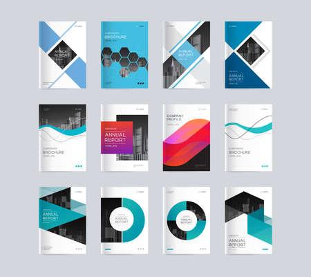 Plantilla de fondo de diseño de portada abstracta para perfil de empresa, informe anual, folletos, volantes, presentaciones, revista y libro
