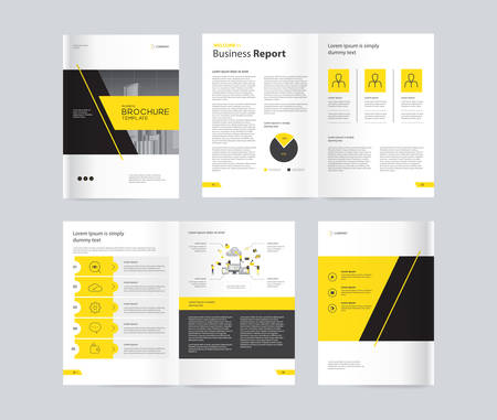 Vorlagenlayoutdesign mit Deckblatt für Firmenprofil, Geschäftsbericht, Broschüren, Flyer, Präsentationen, Faltblatt, Magazin, Buch. und Vektor a4 Größe für editierbar.