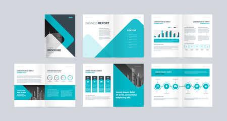 modèle de mise en page avec page de couverture pour le profil de l'entreprise, rapport annuel, brochures, dépliants, présentations, dépliant, magazine, livre et échelle de taille a4 modifiable. Vecteurs