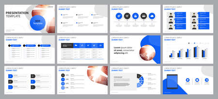 business presentation backgrounds design template and page layout design for brochure ,book , magazine, annual report and company profile , with info graphic elements graph design concept Vektorové ilustrace
