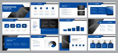 modèle de conception d'arrière-plans de présentation d'entreprise et conception de mise en page pour brochure, livre, magazine, rapport annuel et profil d'entreprise, avec concept de conception graphique d'éléments graphiques d'informations