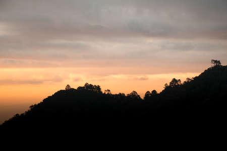foothills: Vivid orange sunrise over foothills