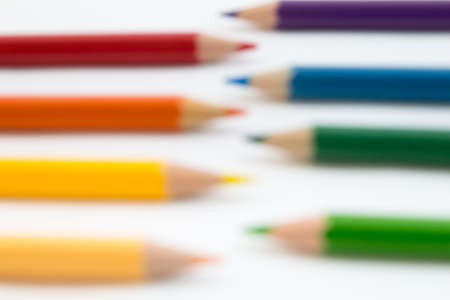 color pencils: Blurred Color Pencils on white background