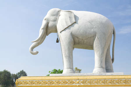 travesty: Marble Carving Elephant show set in a temple.