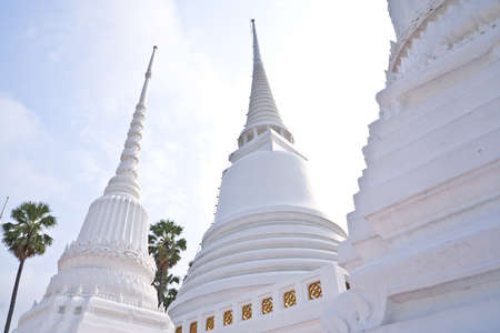 White Pagoda in the ancient temples photo