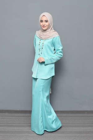Beautiful Muslim girl wearing hijab.Hijab Fashion.