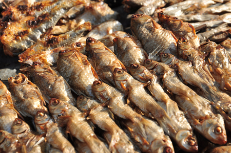 cod hole: Dried fish as a treatment for human food  Stock Photo