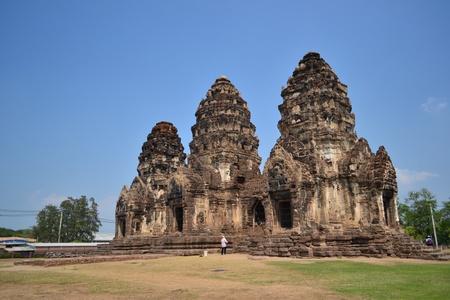 buddhist structures: Phra Prang Sam Yod   Lopburi Province, Thailand  Khmer art buildings