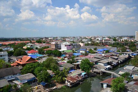krottenwijk: Sloppenwijk in Bangkok, Thailand