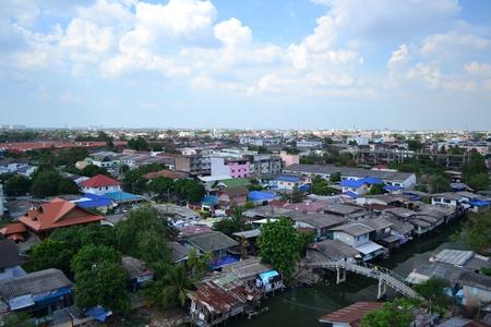 slum: Slum area in Bangkok,Thailand