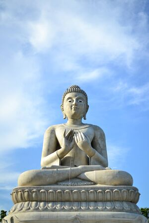 Statue of Buddha with blue sky,Thailand. Stock Photo - 13292949