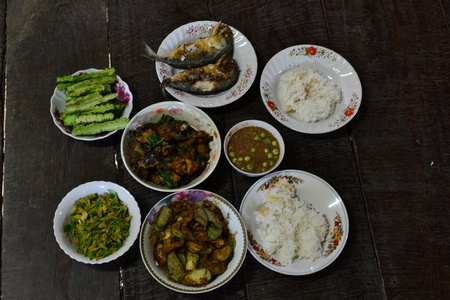 Classical Thai food,  it is local food of the central region of Thailand. photo