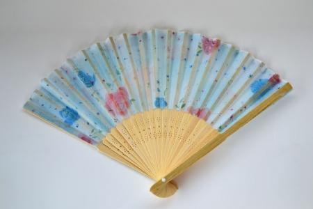 Chinese Fan isolated on white background. photo