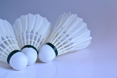 Badminton with white background photo