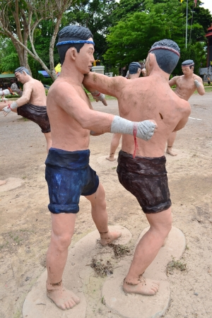 Estatua de boxeo tailand�s (Muay Tailand�s), Tailandia, Asia.