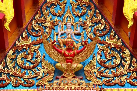 Thai art  in the Thai temple ( lai Thai ),Thailand,Asia