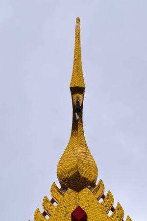 apex: Gable apex of thai temple,Thailand,Asia Stock Photo
