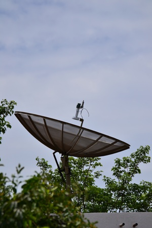 telecast: Satellite dish Stock Photo