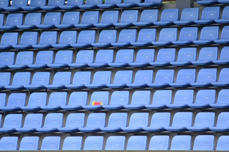 Grandstand in stadium  photo