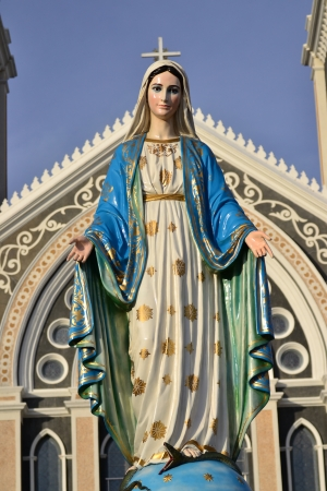 immaculate: Virgin mary statue in thailand