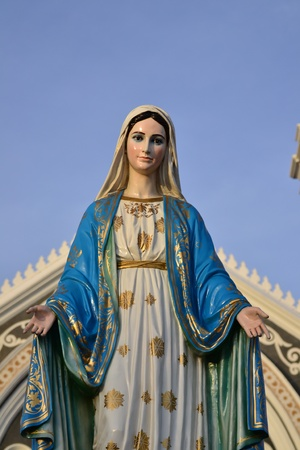 immaculate: Virgin mary statue in thailand.