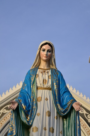 immaculate conception: Virgin mary statue in thailand.