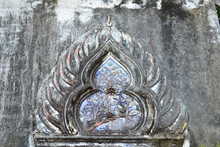 Thai art  in the Thai temple ( lai Thai ),Thailand,Asia photo