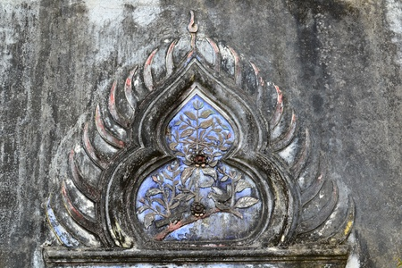 Thai art  in the Thai temple ( lai Thai ),Thailand,Asia photo