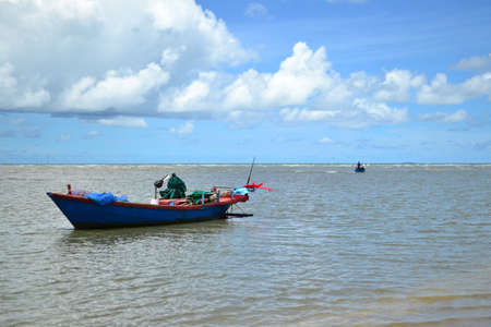 Fishing boat with blue sky,Thauland,Asia photo