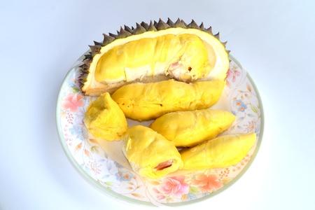 Close up of peeled durian isolated on white background. Stock Photo - 14472972