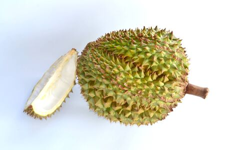 Close up of  durian isolated on white background. Stock Photo - 14472963