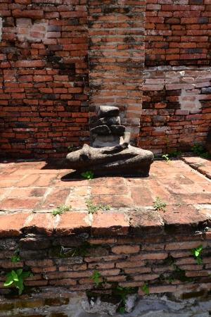 The remains of Buddha at Wat Mahatat, Ayutthaya, Thailand photo