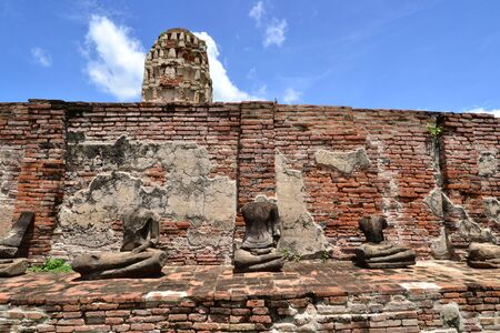 The remains of Buddha at Wat Mahatat, Ayutthaya, Thailand. photo