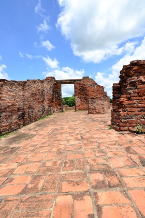 Thai ancient temple remains in Ayutthaya,Thailand photo