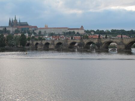 Views of waterfront of  Prague, Czech Republic photo