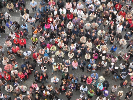 población: Muchas personas en hodiday