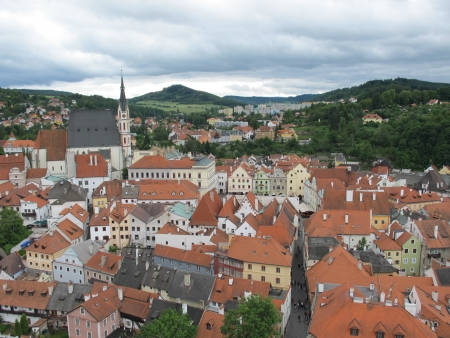 cz: Landscapes and landmarks of Cesky Krumlov,Czech Republic.