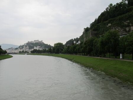 Views of waterfront of  Salzburg,Austria photo