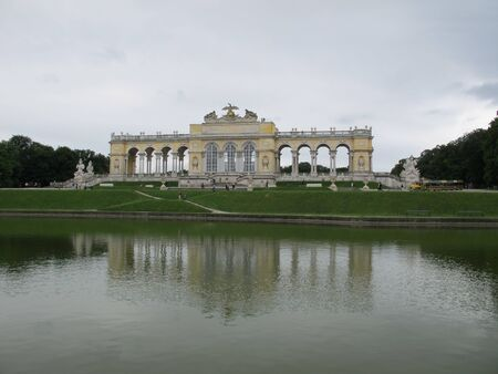 the gloriette: The Gloriette, Schoenbrunn Palace, Vienna,Austria,Europe Editorial