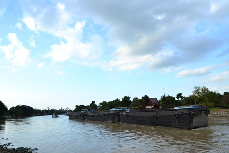 Views of waterfront of  Chaopraya river,Ayutthaya,Thailand