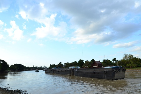 Views of waterfront of  Chaopraya river,Ayutthaya,Thailand Stock Photo - 14702069