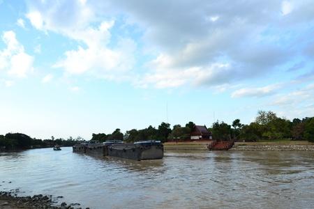 Views of waterfront of  Chaopraya river,Ayutthaya,Thailand