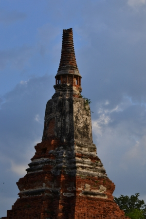 Ancient pagoda of Ayuthaya  , Wat-Chaiwattanaram(Ancien Thai temple), Ayutthaya ,Thailand. photo