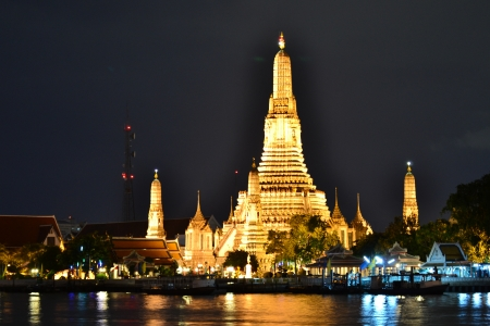 Prang Wat Arun ,Thai temple (Wat Arun),Bangkok,Thailand,Asia Stock Photo - 14997485