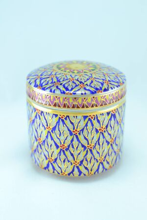 Benjarong ceramic gold  intricate designed from thailand photo