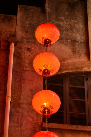 Chinese Lantern in ChineseTemple,Macau